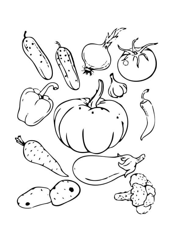 bilder zum ausmalen obst und gemüse - malvorlagen